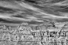 Горы в Юте - черно-белой Стоковая Фотография