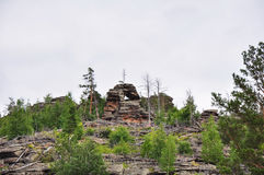 горы в bayanaul Стоковые Изображения