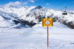 Горы в ischgl Стоковое Фото