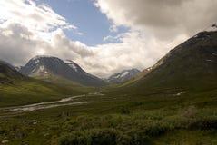 Горы в Jotunheimen Стоковое фото RF