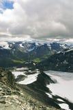 Горы в Jotunheimen Стоковые Изображения