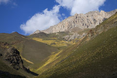 Горы в Kyrgyzstan Стоковые Фотографии RF