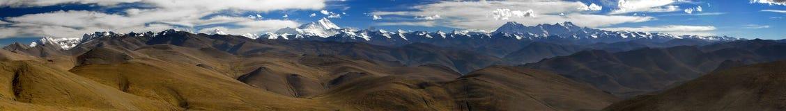 горы Гималаев панорамные Стоковые Фото