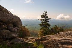 Горы голубого Ридж как осмотрено от горы деда стоковая фотография rf
