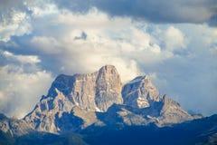 Горы горной вершины доломита Стоковые Изображения RF