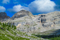 Горы горной вершины доломита Стоковое Изображение