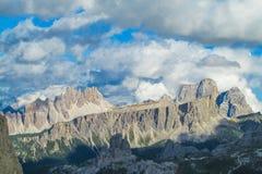 Горы горной вершины доломита Стоковое фото RF