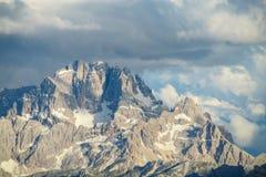 Горы горной вершины доломита Стоковая Фотография