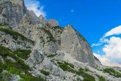 Горы горной вершины доломита Стоковые Фотографии RF