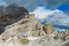 Горы горной вершины доломита Стоковое Изображение RF