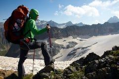 горы девушки высокие Стоковое Изображение RF