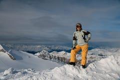 горы девушки Стоковая Фотография