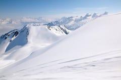 горы дня улучшают зиму Стоковое Фото