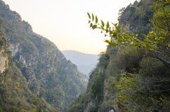 Горы желтого цвета Shangfangshan горы Фарфор горы стоковое изображение