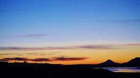 Горы захода солнца Стоковое Изображение RF