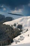 Горы зимы Стоковое Изображение RF