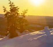 Горы зимы Стоковая Фотография RF