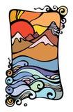 горы изображения склонения Стоковые Фотографии RF
