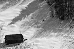 горы изолированные коттеджем Стоковое фото RF