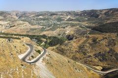 горы Израиля Иордана граници Стоковые Изображения RF