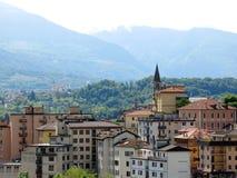 Горы Италия деревни Беллуно Стоковое Изображение RF