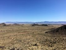 Горы и кактусы в Аризоне дезертируют под голубым небом Стоковые Изображения RF