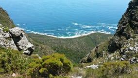 Горы и море Кейптаун Стоковые Фотографии RF