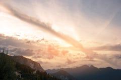 Горы и небо стоковое фото rf