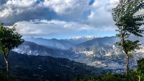 Горы и небо Стоковое Изображение RF