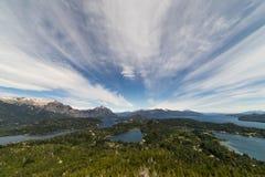Горы и озера San Carlos de Bariloche, Аргентины стоковые фото