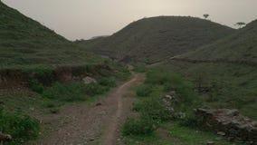 Горы и дорога Стоковое Изображение RF