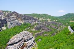 Горы и дороги Стоковое Изображение