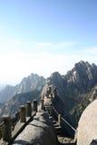 Горы и путь в Китае Стоковое Изображение RF