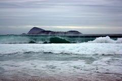 Горы и пляжи Бразилии Стоковое Изображение