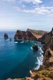Горы и скалы Мадейры Стоковое Изображение RF