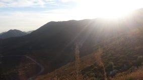Горы и солнце Стоковое Изображение RF