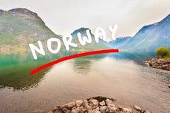 Горы и фьорд в Норвегии, Стоковое фото RF