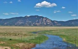 Горы Колорадо на резервуаре 11 миль Стоковое Изображение RF