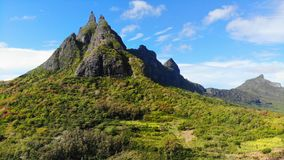 Горы ландшафта Маврикия вулканические стоковые фото