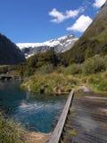 горы моста деревянные стоковое изображение rf