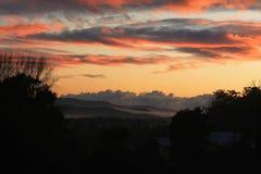 горы над восходом солнца стоковая фотография rf