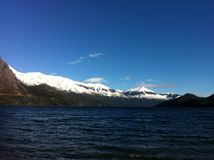 Горы на Bariloche, озере Gutierrez, Аргентине III стоковые фото