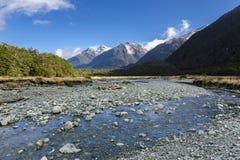 Горы Новой Зеландии Стоковые Фото