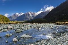 Горы Новой Зеландии Стоковое Изображение