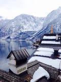Горы озера и снега точк зрения Стоковая Фотография RF