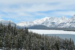 горы озера утесистые Стоковая Фотография RF