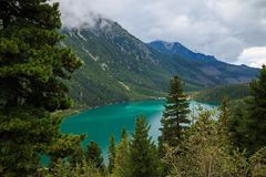 горы горы озера lac de Франции creno Корсики корсиканские стоковые фотографии rf