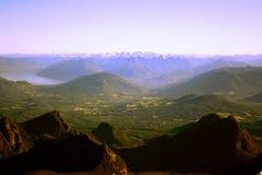 горы озер Чили Стоковые Фотографии RF