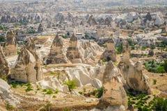 Горы около Goreme, Cappadocia, Турция Стоковая Фотография RF