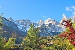 Горы около Kranjska Gora Словении Стоковая Фотография RF